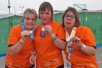 Deelnemers Special Olympics World Summer Games Abu Dhabi terug in Stad